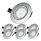 Foco Empotrable | Led Gu10 Luz de Techo 5W equivalente a incandescente 60W | Blanco Frío 6000K...