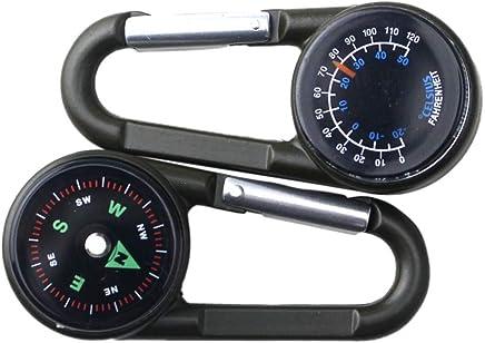 Wandern Kompass Survival-Werkzeug 2019 Thermometer Reisen Schl/üsselanh/änger Outdoor-Sport Karabiner zijianZZJ Thermometer