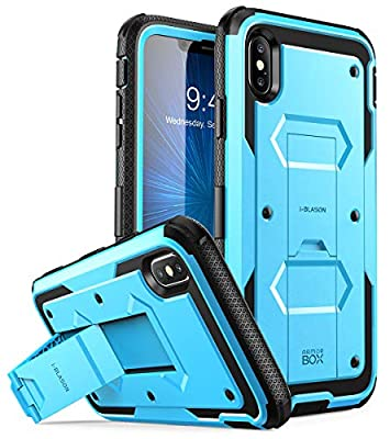 iPhone Xs Max Case, [Armorbox] i-Blason [Built in Screen Protector][Full Body] [Heavy Duty Protection] [Kickstand] Shock Reduction Case for iPhone Xs Max 6.5 inch (2018)