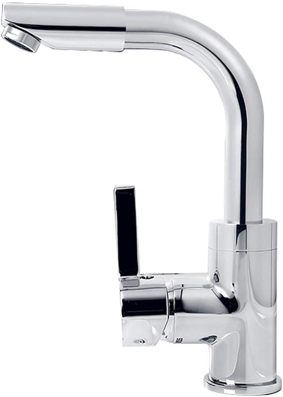 ZTMN Badezimmer Einhand Einlochmontage Rotierendes Wasser Küchenarmatur Waschbecken Messing Wasserhahn