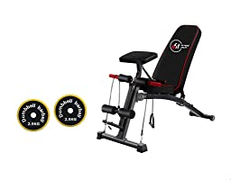 Ufit Multi-function Sit Up Bench with Dumbbells Set