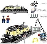 Q-Man Ingenious Giocattoli/Alimentato a Batteria Elettrico Treno Citt Merci / Costruzioni Set #9H231