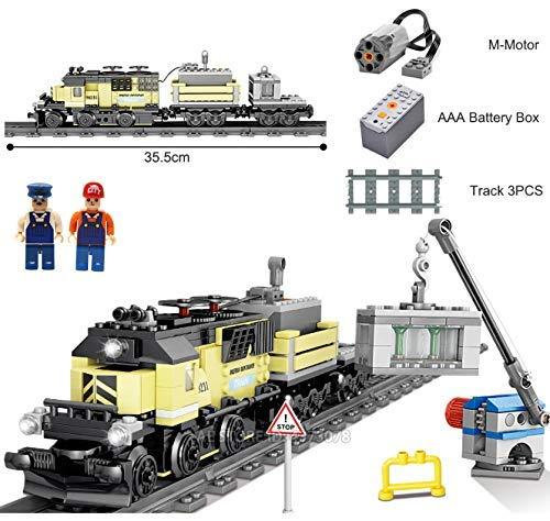 Q-Man Ingenious Giocattoli/Alimentato a Batteria Elettrico Treno Città Merci / Costruzioni Set #9H231