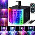 LUNSY DJ Lights Party Lights Multicolor Sound Actived Disco Lights LED Beams with Remote and DMX512 Control for Disco Club