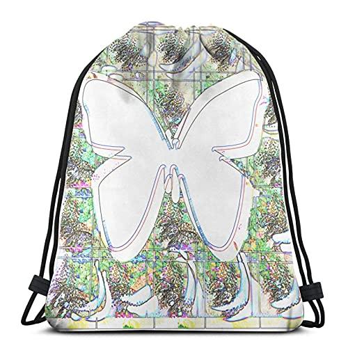 Lmtt Mariposa Playboy en la boca Pullover Hoodie - pound; uml; 1 pound; Bolsa con cordón Bolsa deportiva Bolsa de viaje Bolsa de regalo Bolsa de regalo White3 Talla única