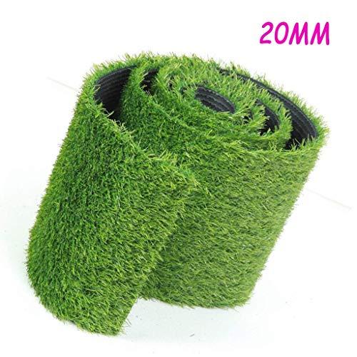 XEWNEG - Alfombra de césped artificial (20 mm, color verde), 2x8M