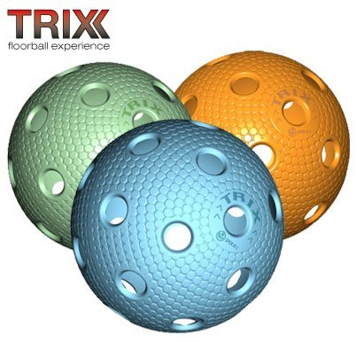 TRIX Unihockey / Floorball Ball 3er Pack MATCHBALL COLOR MIX