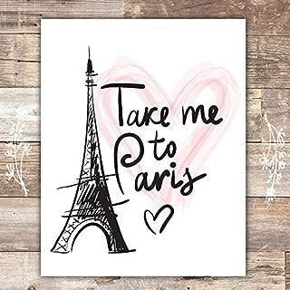 Paris Wall Art Print - Unframed - 8x10   Eiffel Tower Decor