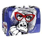Kosmetiktasche Lustiger Gorila-AFFE Make-up Tasche Schminktasche Kulturbeutel Kulturtasche für Frauen Damen wasserdichte Waschtasche Reise Waschbeutel Toilettentasche 18.5x7.5x13cm