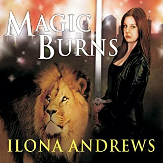 Magic Burns audiobook cover art