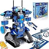 Yerloa Roboter Bausteine Spielzeug Fernbedienungsroboter Bausteine Educational Kit Engineering STEM Bauspielzeug Intelligentes Geschenk für Jungen und Mädchen (405 Stück)…