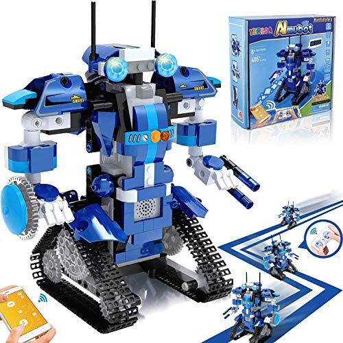 Yerloa STEM Toys Kit Giocattoli, 405 Pezzo Educational Remote Control Set di Robot a Blocchi per Bambini per dagli 8 Anni in su, Ricaricabile Robotica Fai da Te Costruire Kit di Apprendimento