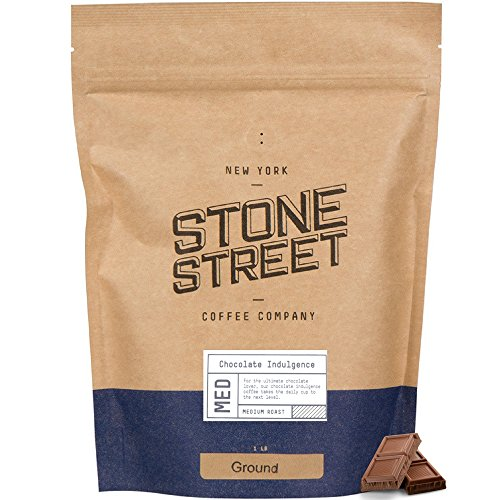 GOURMET CHOCOLATE INDULGENCE Flavored Ground Coffee | 1 LB Bag | Freshly Roasted 100% Colombian...