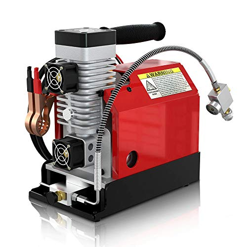 PCP Air Compressor, 4500Psi/30Mpa, Oil-Free, Powered by Car 12V DC or Home 110V AC with Adapter,Paintball/Scuba Tank Compressor Portable