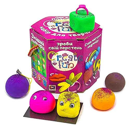 Plastilina modelada 70029 Soft Knete Create Fun Ring Niños Juguetes idea regalo para niños mayores de 3 años