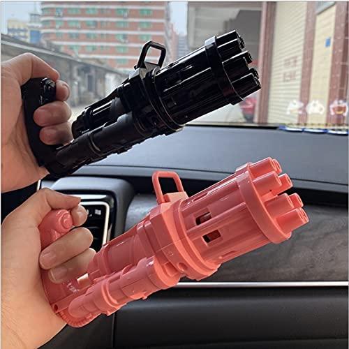 PHLPS Gun Gatling BULBLE BULBLE 2021 Pistolet à Bulles 8 Trou énorme Montant Bubble Maker Maker Automatique Bubble Maker Fournitures de Mariage Bubble Souffleur Maker Gun Enfants Intérieur Jouets