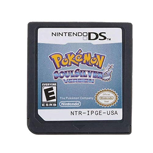 New Pokemon Soul Silver Version Game Card for NDS 3DS DSI DS Lite US Version (Reproduction Version)