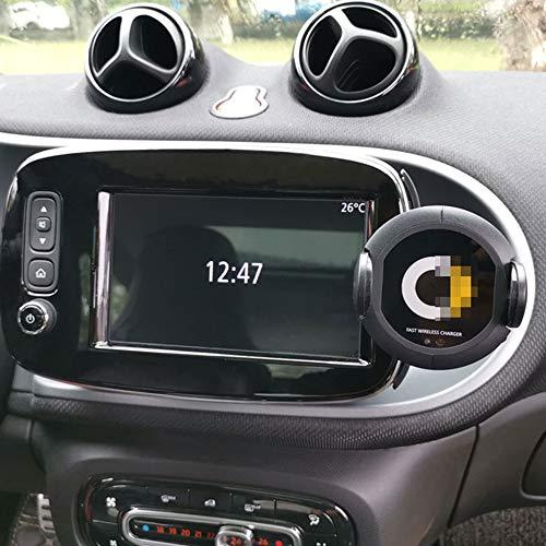JTAccord Car Wireless Charger Navigationsradio Handyhalterung für Smart 451 453 Fortwo Forfour, Car Styling Zubehör