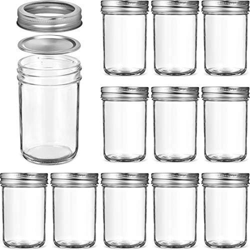 Glass Regular Mouth Mason Jars, 8