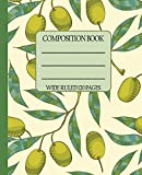 Wide Ruled Composition Book: Clean and crisp olive themed cover will keep your notebook looking neat while you stay organized at home, work, or ... ... Composition Notebooks) [Idioma Inglés]