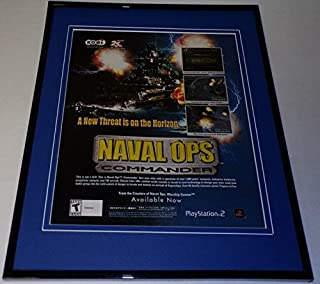 Naval Ops Commander 2004 Xbox PS2 Framed 11x14 ORIGINAL Advertisement