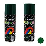 Paintusa - Pack de 2 botes de pintura en spray Verde Oscuro A15 200 ml