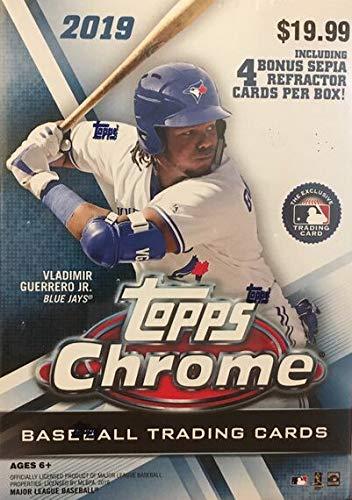 Topps 2019 Chrome Baseball Retail Blaster Box (8 Packs/4 Cards: 4 Sepia Refractors)