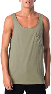 Rip Curl Men's Plain Tank, Washed Olive