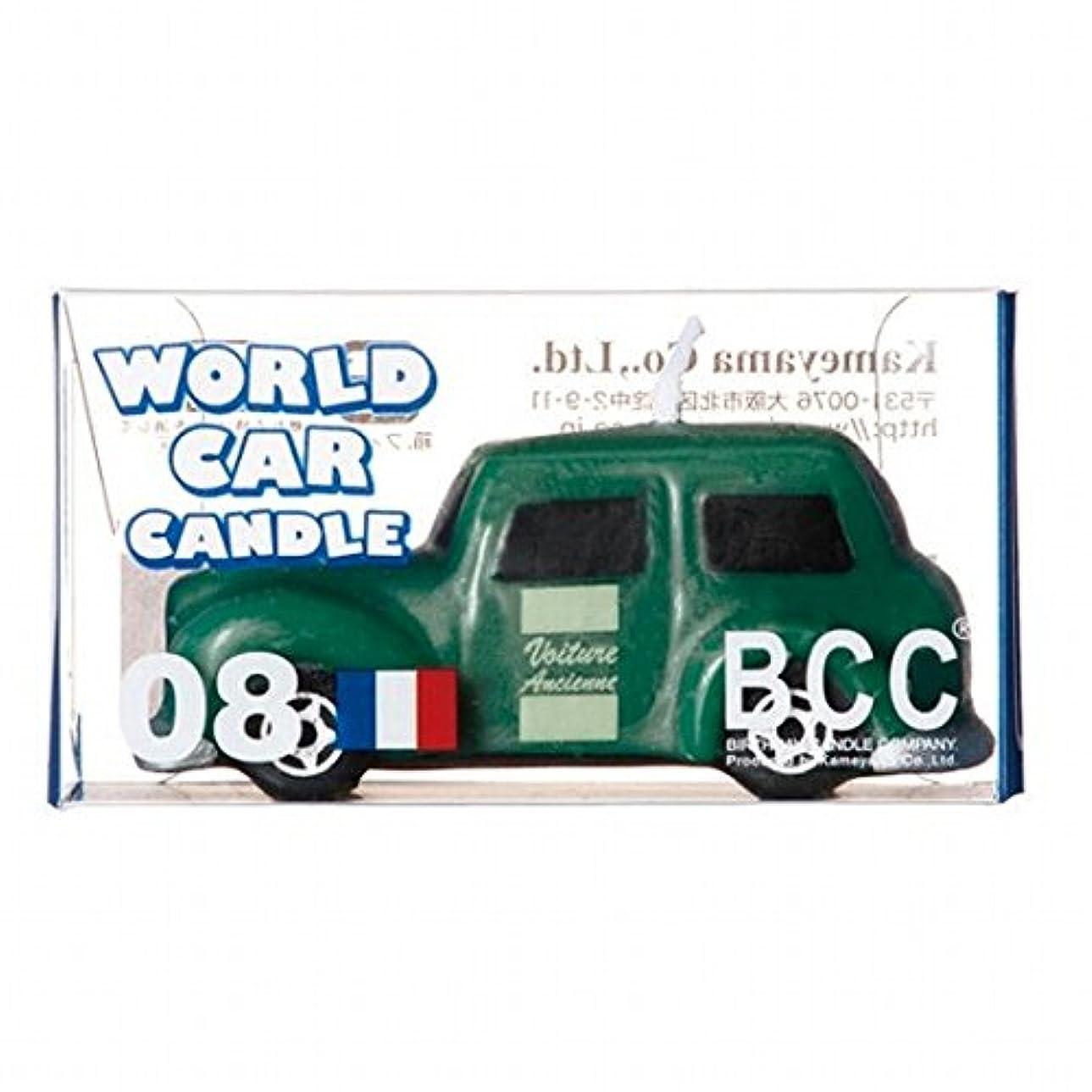 消防士配る施しカメヤマキャンドル( kameyama candle ) ワールドカーキャンドルクラシックカー(フランス)