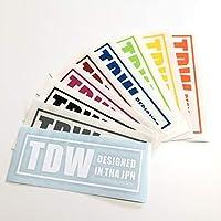 TDW ステッカー BOXロゴ (レッド)
