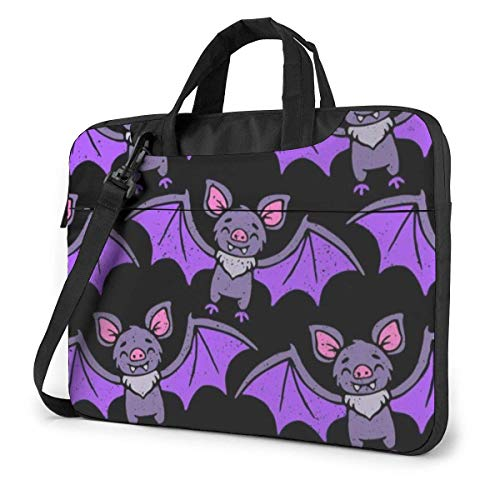 XCNGG Bolso de hombro Computer Bag Laptop Bag Carrying Laptop Case, Bat Pattern Computer Sleeve Cover with Handle, Business Briefcase Protective Bag for Ultrabook, MacBook, Asus, Samsung, Sony, Notebo