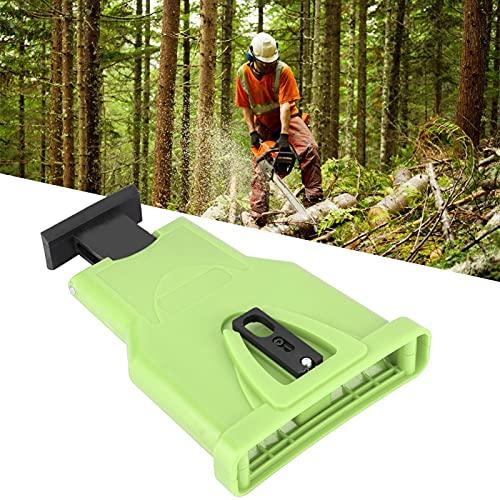 FOLOSAFENAR Cómodo de Usar Herramienta de Esmerilado de Cadenas Afilador de Cadenas eléctrico, para Ahorrar Tiempo y Esfuerzo(Green)