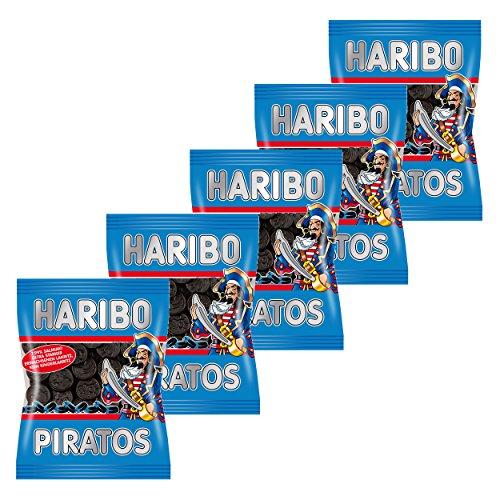 Haribo Piratos, 5er Pack, Lakrtitz, Lakrtitze Süßigkeit, Nascherei, Im Beutel, Tüte
