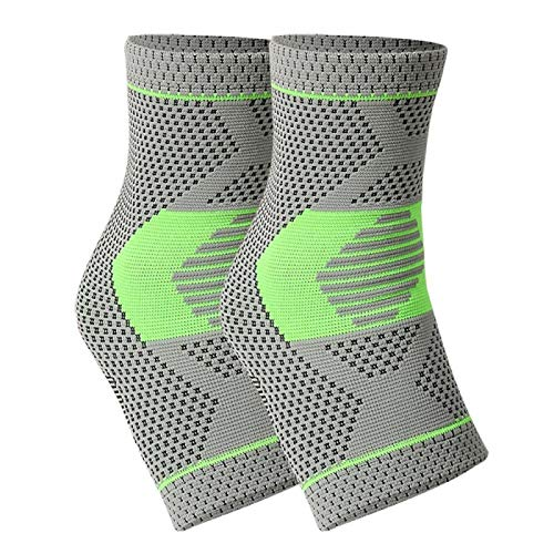 YYBD Unisex Ankle Braces Elastic Bandage Ankle Weights Support Sports Anklet Soft Foot Protective Gear Gym Fitness Running Protection 1225 (Color : Green, Size : S)