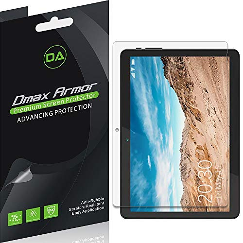 (3 Pack) Dmax Armor for Linsay 10.1 inch Tablet (F10XIPS) Screen Protector, Anti Bubble High Definition Clear Shield