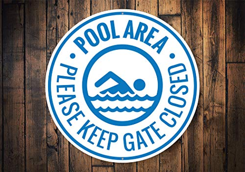 18x25 Pool Area Keep Gate Closed Pool Area Decor Backyard Pool Decor Pool Gift Pool Lover Pool Decor Pool House Decor Pool Metal Sign Tin Signs Metal Sign Funny Wall Decoration Gifts for Christmas