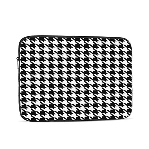 White Houndstooth 10-17 Inch Classic Computer Bag Laptop Case Carrying Bag Chromebook Case Notebook Bag Tablet Cover,17 inch