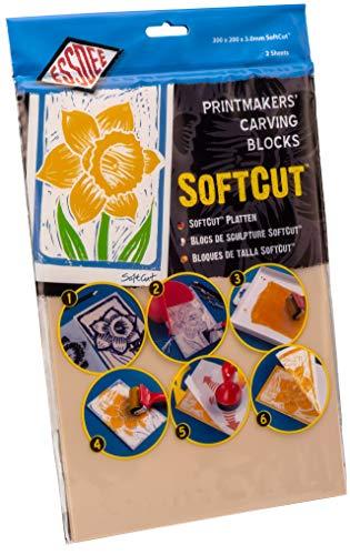 Educational Arts 3.0/SC4 3 x 300 x 200 mm Weichschnitt-Printing Block, 2 Stück