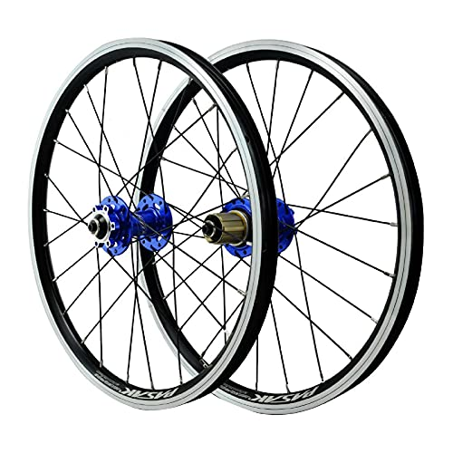 ZPPZYE Ruedas de Bicicleta MTB 20 Pulgadas, Freno V Aleación Aluminio Híbrido/Borde de Montaña Rueda Liberación Rápida 24 Hoyos para 7-12 Speed (Size : 20 Inch)