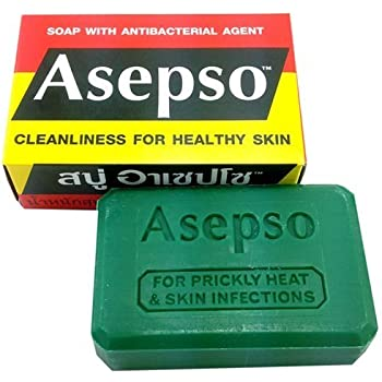 Asepso Antibacterial Agent Soap 2.8 Oz / 80 G (Pack of 12) from Thailand