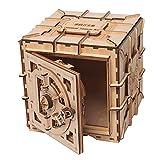 フェリモア 木製模型 木製金庫 ダイヤル式 立体パズル 木工 工作 3D 接着剤不要 組み立て式