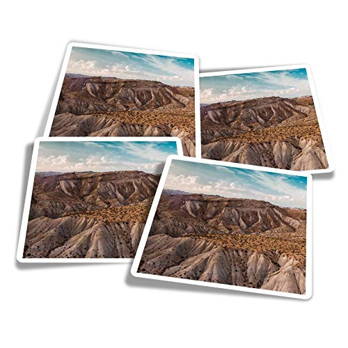 Vinyl Stickers (Set of 4) 10cm - Sierra Alhamilla Mountains Spain Travel Fun Decals for Laptops,Tablets,Luggage,Scrap Booking,Fridges #24190