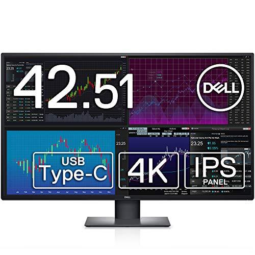 Dell U4320Q 42.51インチ 4K 大型モニター (3年間無輝点交換保証/IPS非光沢/USB Type-C,DP,HDMIx2/高さ,傾き調整/マルチディスプレイ/スピーカー付)