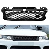ZHYUEN Front Tuber Grill, LR062238 para Land Rover Range Rover Sport SVR 2015 2016 2017 L494 Gloss Black Abs Racing Grille