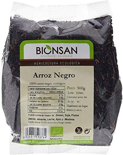Bionsan Arroz Negro Ecológico - 6 Bolsas de 500 g - Total: