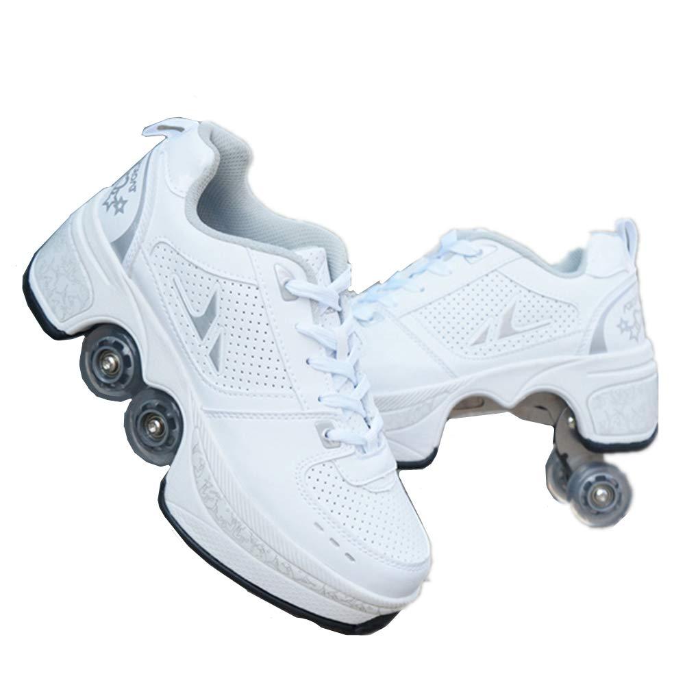 sanheng fire Deformation Parkour Shoes Cuatro Redondos de Zapatillas de Running Patines, 38, Hora del té: Amazon.es: Deportes y aire libre