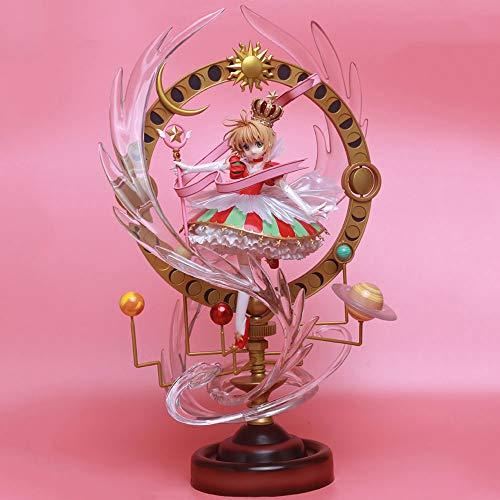 AGOOLZX Japón Tarjeta mágica Variedad Chica Proyecto Sakura Mujer Edición de Lujo Muñeca PVC Anime Juego de Dibujos Animados Modelo de Personaje Estatua Muñeca Colección de Juguetes Regalo