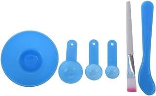 Tenlacum DIYマスク フェイシャル マスクツール 美容ツール メイクアップツール 計量スプーン マスクブラシ スティック ボウル 4個セット