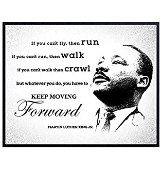 Martin Luther King Jr Quote African American Art Home Decor - Inspirational Black Pride Poster Print - Motivational Room Decorations - Gift for Classrooms Afro-American Black Lives Matter MLK