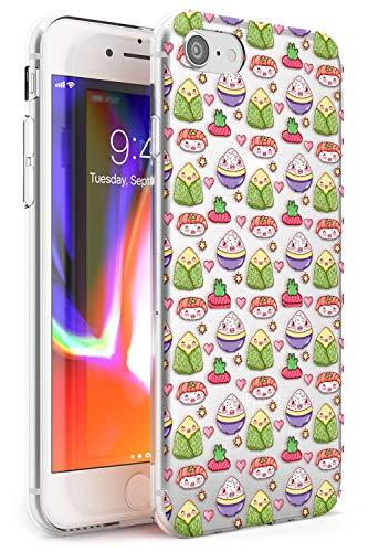 Hülle Warehouse Kawaii Reis und Nigiri Japanisches Sushi Slim Hülle kompatibel mit iPhone 7/8 / SE TPU Schutz Light Phone Tasche mit Transparent Japanisch